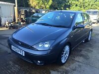 ** NEWTON CARS ** 02 FORD FOCUS 2.0 ST170, 5 DOOR, GOOD COND, S/H, MOT MAY 2017, P/EX POSS, CALL US