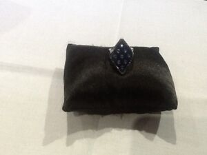 House of Harlow 1960 New & Genuine Silver Plated Blue Enamel Ring Size 7 & Logo