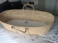 Moses basket & mattress