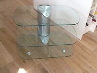 "Glass TV Stand - for up to 55"" televisions"