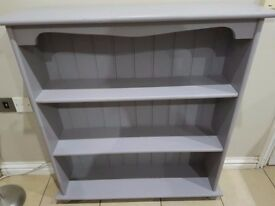 ****solid wood heavy Display Unit-Bookcase **** ex con smoke free home