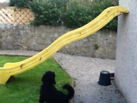 kids outdoor slide. Was from a Costco climbing frame. Could be used on wooden climbing frame