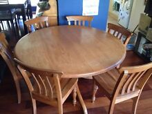 Six seat solid pine dining table and chairs Forest Lake Brisbane South West Preview