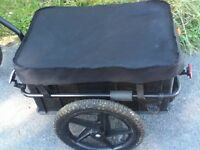 Nearly new black bicycle trailer, excellent condition