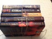5 Simon Scarrow books for sale. Hardbacks as new.