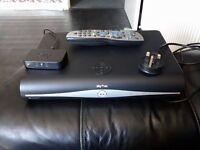 Sky+ HD box, mini wireless connector, remote & power cable