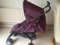 Mothercare Nanu Aubergine stroller with weathershield