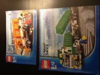 Lego city garbage truck and heavy hauler, complete and in immaculate condition