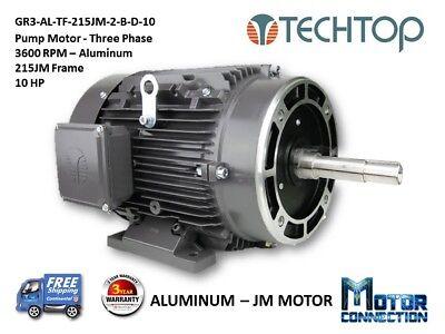 10 Hp Electric Motor Pump 3600 Rpm 215jm 3-phase Nema Premium