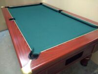 7x4 Ex-Pub Slate Bed Traditional Pool Table - New Recover & Accessories - Freeplay for Home Use