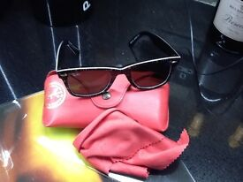 Ray Ban Wafarer designer sunglasses with case,cost £115 new,bargain at £15,pos local delivery