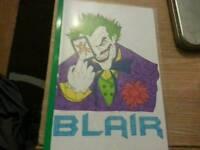 Custom hand drawn colouring books