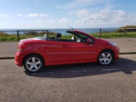 Peugeot 207 Coupe Cabriolet 1.6 VTi Active 2dr 2014 17500miles, one owner FSH, superb condition