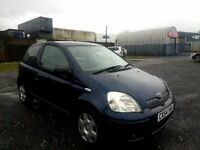 Toyota Yaris1.0 VVT-i T3 3dr 1 YEAR MOT STARTS AND DRIVES MINT CHEAP TO INSURE AND MAINTAIN TLC