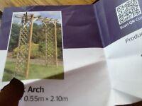 New Sunset wooden garden archway