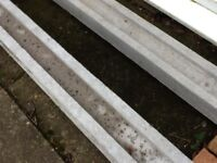 8ft concrete panel posts