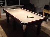 Pool snooker table 4 x7 foot solid slate bed