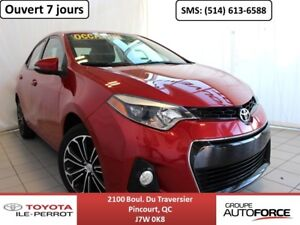 2015 Toyota Corolla S UPGRADE, A/C, TOIT OUVR, MAGS, BLUETOOTH++