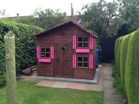 Large wooden playhouse two level