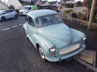 1968 tax and mot free Morris minor 1000 still motd until October but no longer needs one