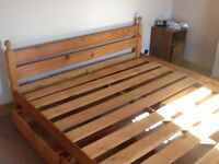 Super Kingsize Bed in Solid Pine