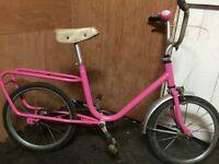 Pink girls vintage bike