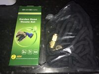 NEW BOXED 50FT EXTENDABLE HOSE + NEW IN OPENED PLASTIC 100FT HOSE £10