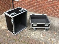 Used heavy duty flight case in good condition suitable for guitar combo amp.