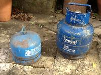 Camping Gaz cylinder and Calor Gas cylinder