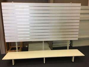 Free standing slatwall panel with low shelf Brendale Pine Rivers Area Preview