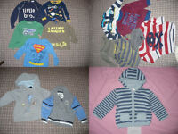 Bundle of 47 baby boy clothes 12-18mths, incl. Superman and Lightning McQueen. All good brands.
