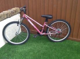 Pink Apollo girls bike