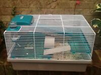 Small hamster cage ans accessories