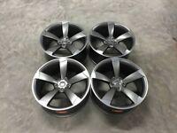 20Inch 19Inch- Audi TTRS Style Wheels – Satin Gun Metal / Machined – Audi A3 A4 A5 A6 A7 A8 – 5×112
