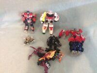 6X retro Transformers toys