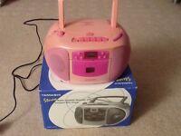 Pink CD Player and Radio