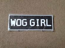 Wog Girl Plate Clayton South Kingston Area Preview