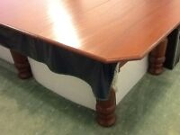 Full size pool table very good condition, solid cover not a scratch. Good for dinner parties