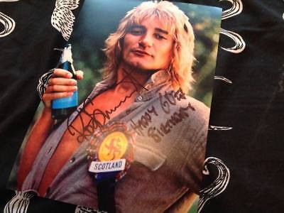 ROD STEWART HAND SIGNED 12 X 8 PHOTO THE FACES LEGEND GREAT GIFT IDEA ICON 2 COA