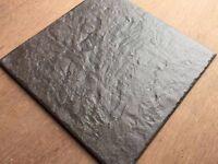 "40 x Ceramic 12"" square Riven Floor Tiles... new"