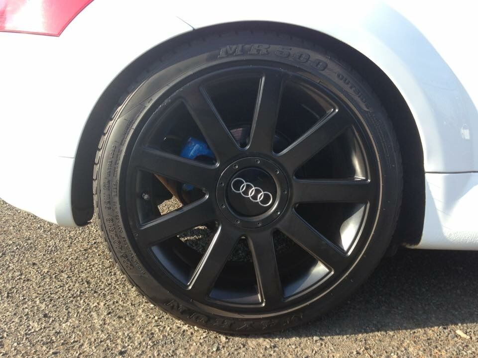Audi TT RS Genuine Spoke Black Alloy Wheels And Tyres In - Audi a 9
