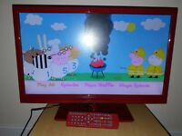 "22"" Red Alba Tv With Built in Dvd player & Freeview"