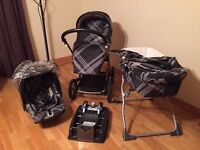Mamas & Papas Primo Viaggio Travel System in Black Couture *NEEDS GONE ASAP*