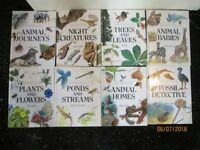 NATURE 8 BOOKS SET BOOKS HAVE ANIMALS AND NATURE PICTURES AND INFORMATION AS NEW CONDITION