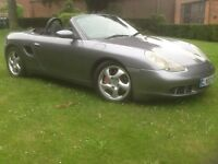 Porsche boxster s in metallic grey. 3.2 with 6 speed manual gearbox 2002 02plate