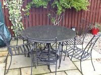 Granite Patio Table & Chairs