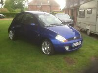 Ford ka 1.6 sport blue with leather trim 45k 54/plate