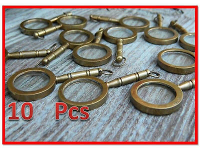 Nautical Vintage Magnifier Key Ring A Lot of 10 Brass Magnifying Glass Keychain