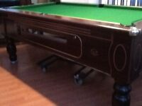 7 X 4 Reconditioned slate bed pub pool table