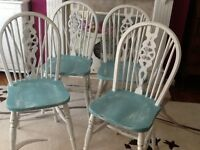 Shabby chic dining chairs x4